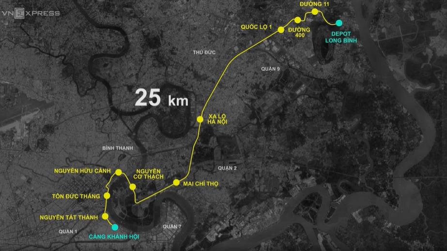 3 giờ vận chuyển toa metro trên đường Sài Gòn