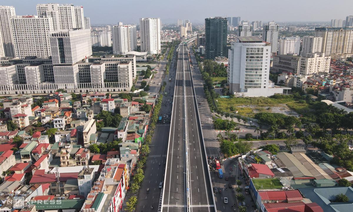Thông xe đường Vành đai 3 trên cao Mai Dịch - Nam Thăng Long