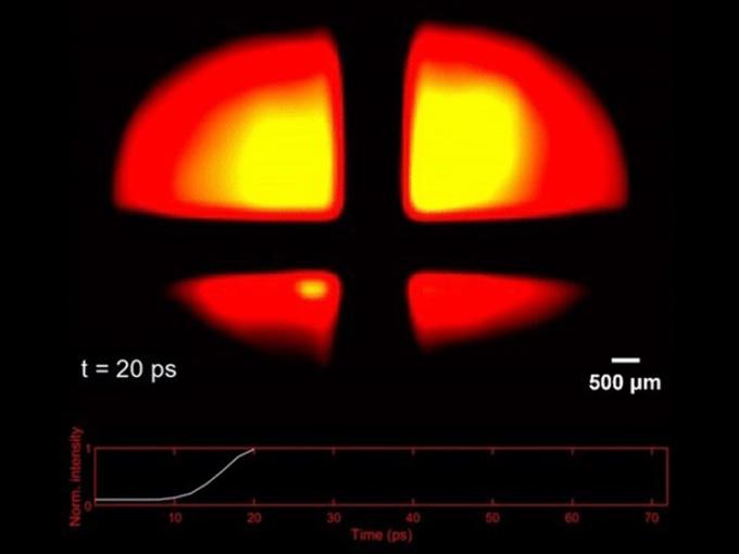 UV-CUP ghi lại chuyển động của một hạt photon trong dải cực tím. Ảnh: INRS.