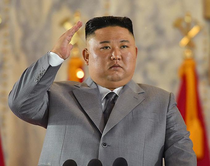 Lãnh đạo Triều Tiên Kim Jong-un tại cuộc duyệt binh ở Bình Nhưỡng hôm 10/10. Ảnh: DPRK Today.