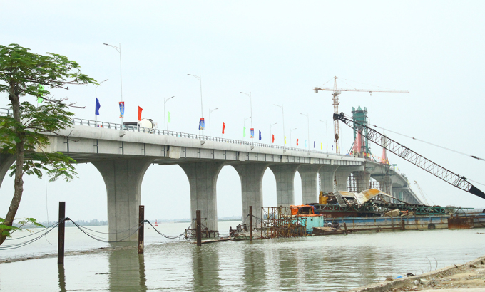 Cầu Cửa Hội sáng 13/10. Ảnh: CTV.