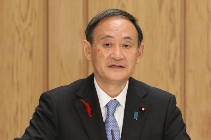 Thủ tướng Nhật Bản Suga trong họp báo tại Tokyo ngày 5/10. Ảnh: Yomiuri Shimbun.