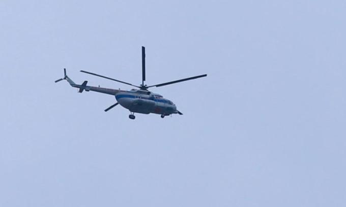 Hai trực thăng vào cứu hộ ở thủy điện Rào Trăng 3