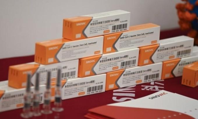 Vaccine Covid-19 của công ty Sino Biotech. Ảnh: AFP