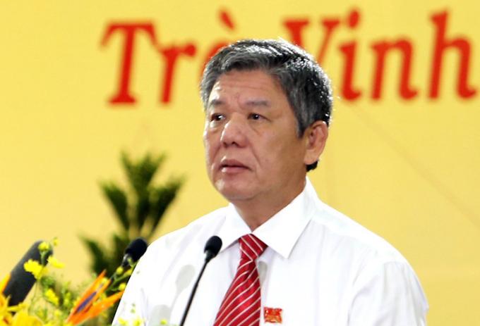 Ông Ngô Chí Cường tại Đại hội Đảng bộ tỉnh Trà Vinh lần thứ XI. Ảnh: Châu Thành