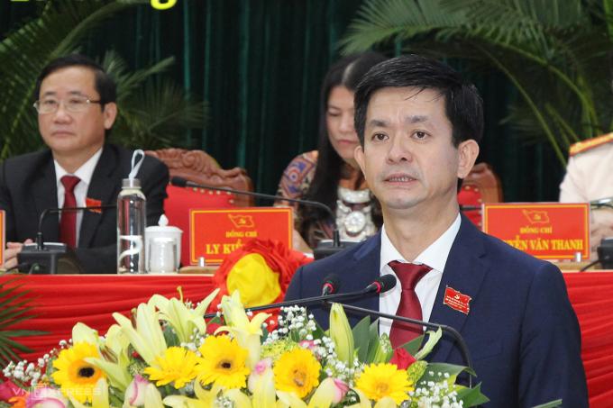 Ông Lê Quang Tùng tái cứ Bí thư Quảng Trị nhiệm kỳ 2020 - 2025. Ảnh: Quang Hà