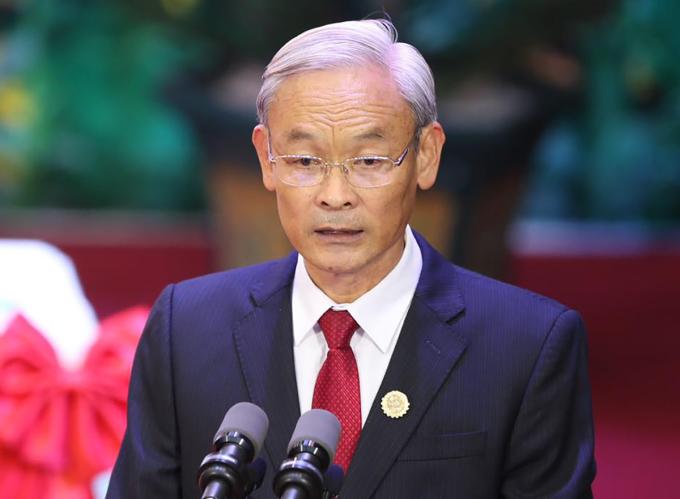 Ông Nguyễn Phú Cường tại Đại hội đại biểu Đảng bộ tỉnh Đồng Nai ngày 15/10. Ảnh: Phước Tuấn