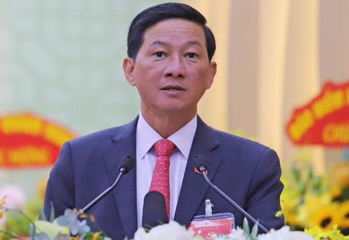 Ông Quận tại Đại hội đại biểu Đảng bộ Lâm Đồng lần thứ XI. Ảnh: Khánh Hương