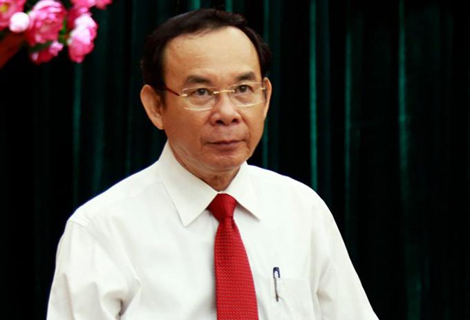 Ông Nguyễn Văn Nên tại trụ sở Thành uỷ hôm 11/10. Ảnh: Hữu Công.