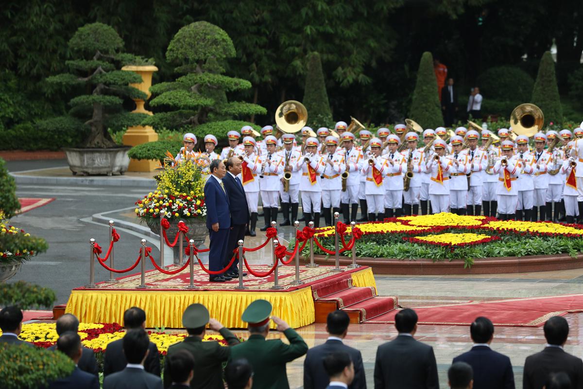 Lễ đón Thủ tướng Nhật Bản Suga