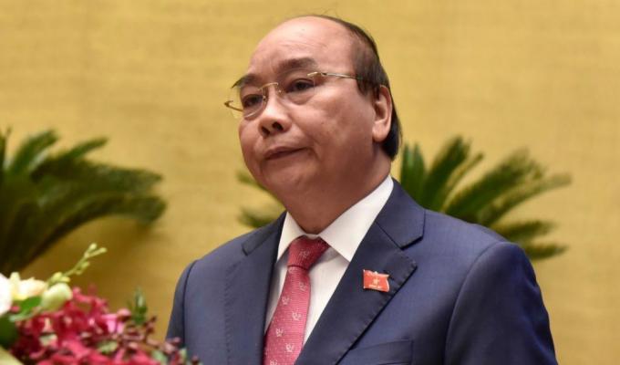 Thủ tướng Nguyễn Xuân Phúc phát biểu tại phiên khai mạc kỳ họp Quốc hội, sáng 20/10. Ảnh: VGP