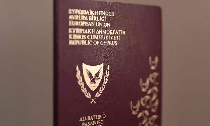 Một hộ chiếu của Cyprus. Ảnh: Reuters.