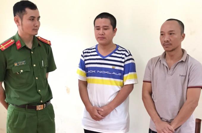 Hai nghi can tham gia bị bắt.