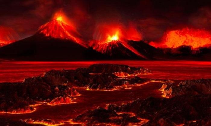 Phun trào núi lửa góp phần xóa sổ 95% sự sống