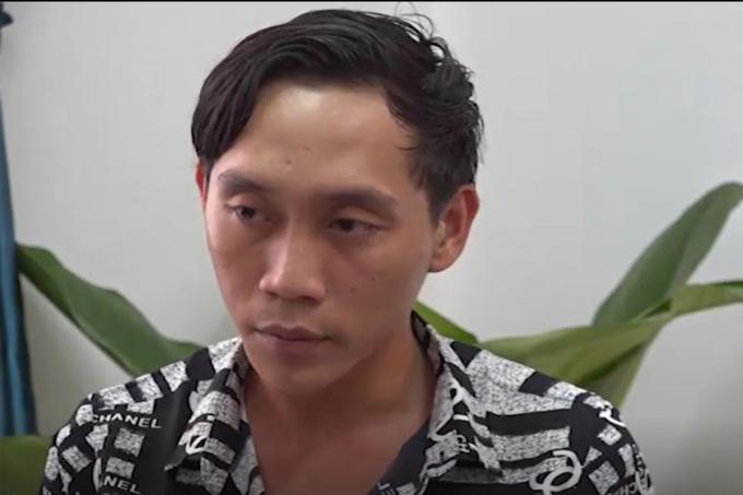 Nghi can Nguyễn Văn Phúc tại cơ quan công an. Ảnh: Công an cung cấp.