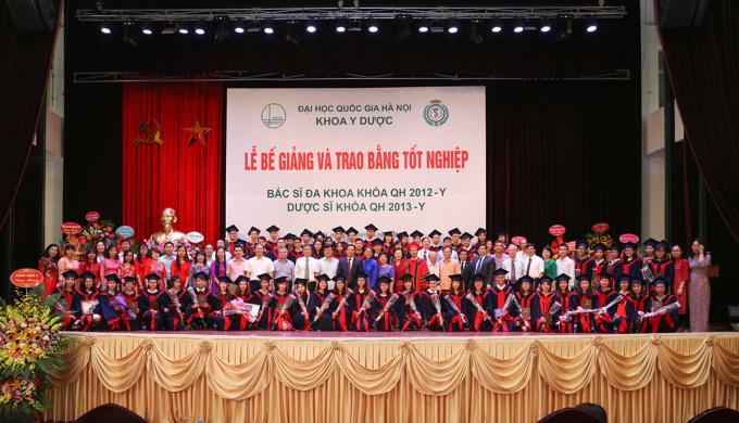 Trường Y dược thuộc Đại học Quốc gia Hà Nội được thành lập trên cơ sở nâng cấp Khoa Y dược. Ảnh: VNU