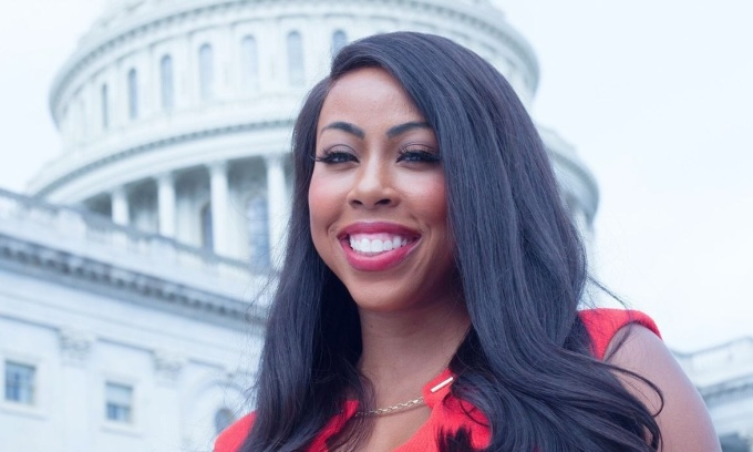 Kim Klacik, ứng viên Quốc hội của đảng Cộng hòa. Ảnh: Baltimore Sun