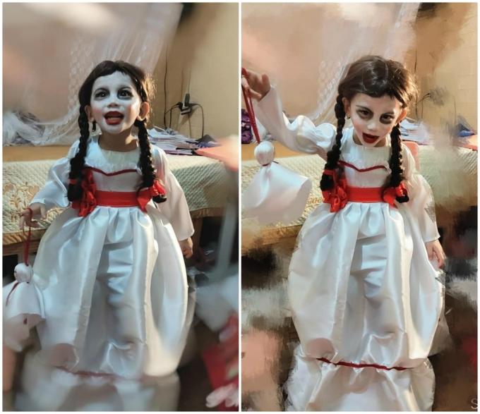 Mẹ thiết kế váy cho con trai đóng vai Annabelle - 14