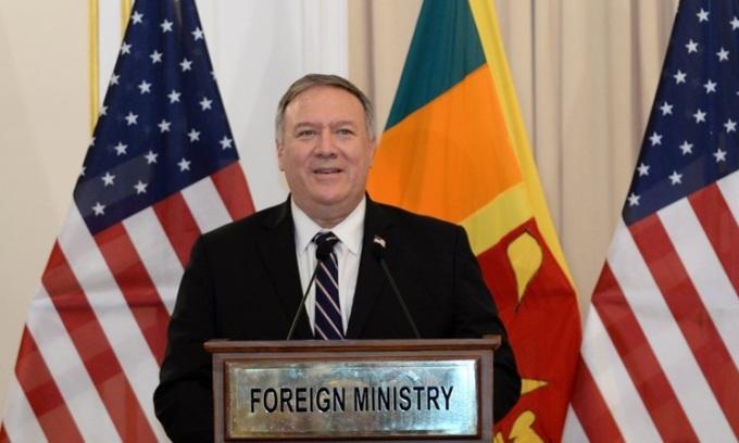 Ngoại trưởng Mỹ Mike Pompeo. Ảnh: AFP.