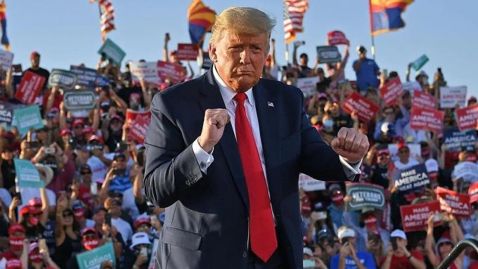 Tổng thống Trump tại Arizona ngày 19/10. Ảnh: AFP.