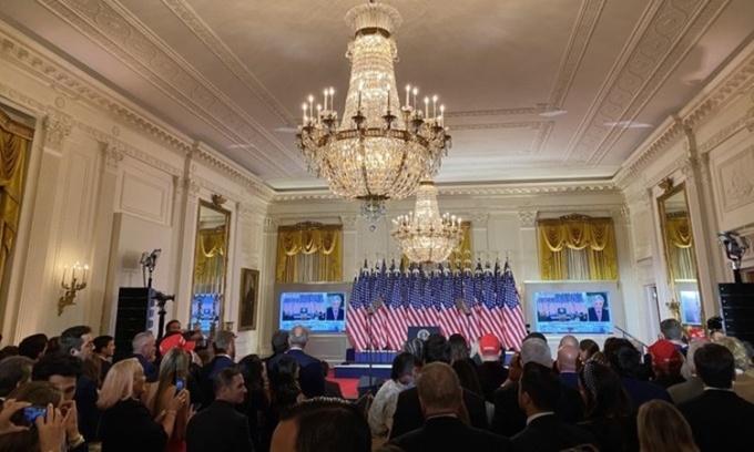 Trump sắp phát biểu từ Nhà Trắng