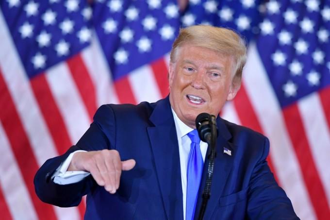 Tổng thống Trump phát biểu tại Nhà Trắng rạng sáng 4/11. Ảnh: AFP.
