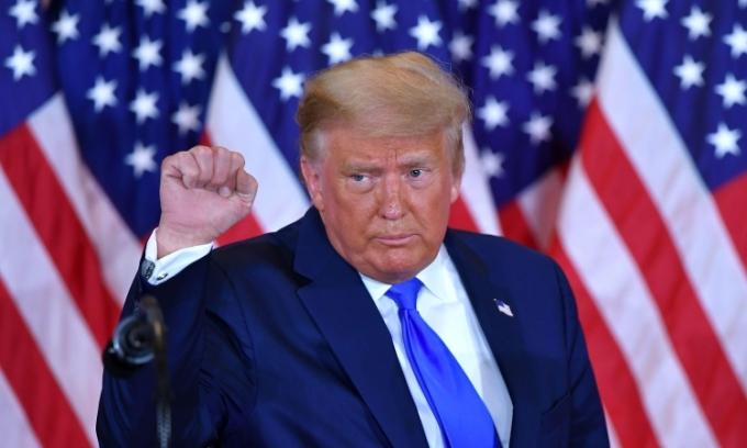Tổng thống Mỹ Donald Trump phát biểu tại Nhà Trắng hôm 4/11. Ảnh: AFP.