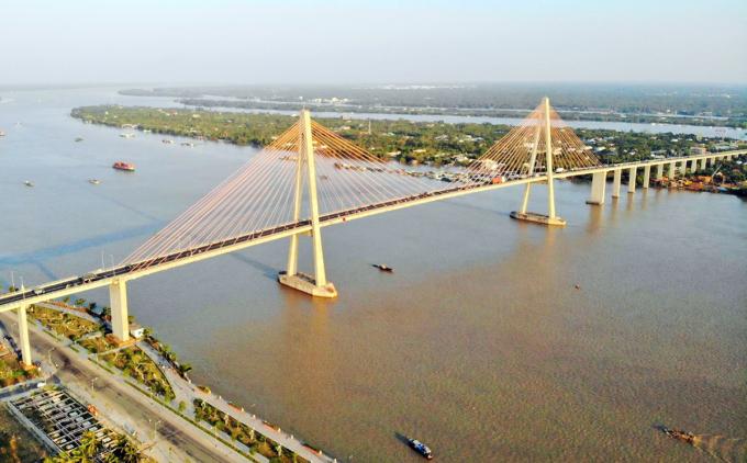 Cầu Rạch Miễu 2 sẽ được xây dựng cách cầu hiện tại 3,8 km. Ảnh: Nam An.