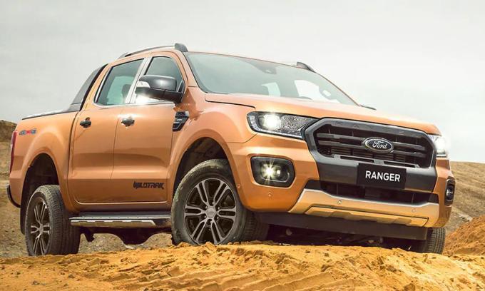 Ranger, mẫu bán tải thương Mỹ áp đảo doanh số bán hàng trước các đối thủ Nhật. Ảnh: Ford