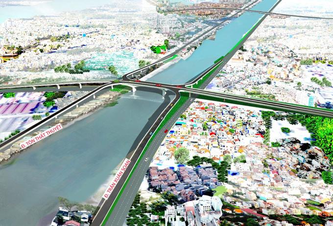 Thiết kế cầu Nguyễn Khoái. Ảnh: TCIP.
