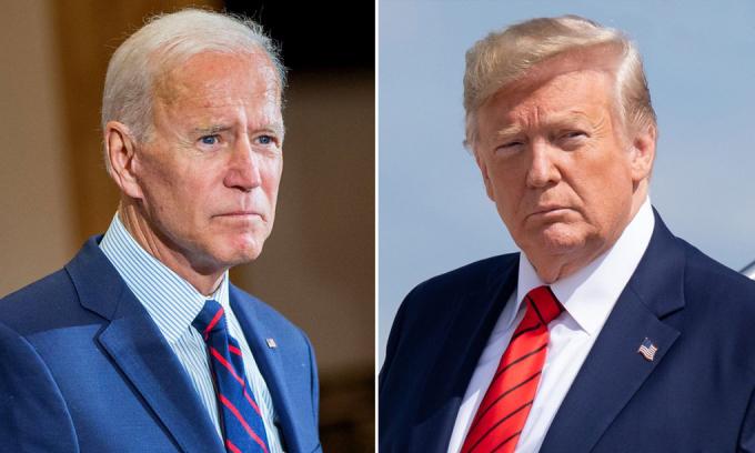 Tổng thống đắc cử Joe Biden (trái) và Tổng thống đương nhiệm Donald Trump. Ảnh: AFP.