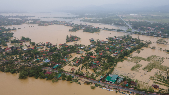 Lũ tại Thừa Thiên Huế hồi tháng 10/2020. Ảnh: Võ Thạnh