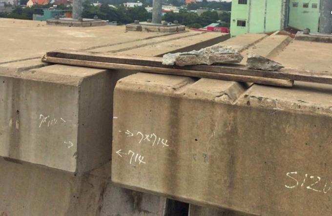 Dầm cầu Metro Số 1 bị sự cố đơn lẻ - 1