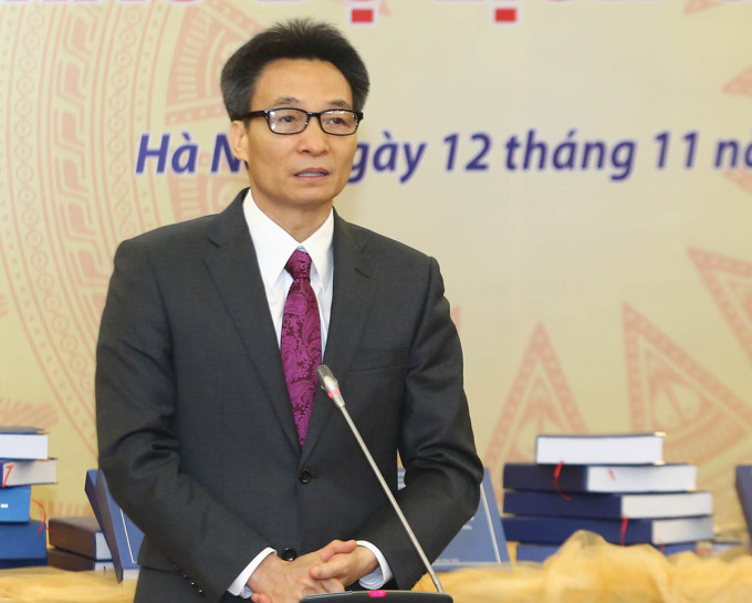 Phó Thủ tướng Vũ Đức Đam phát biểu tại sự kiện. Ảnh: Đình Nam.