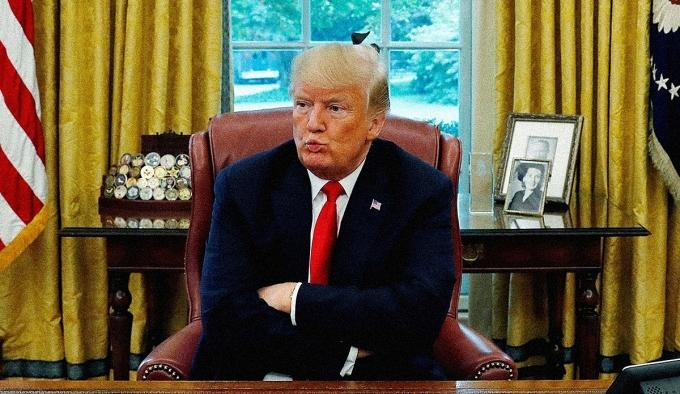 Tổng thống Trump tại Phòng Bầu dục tháng 8/2018. Ảnh: Reuters.