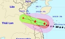 Bão Vamco đổ bộ miền Trung rạng sáng mai