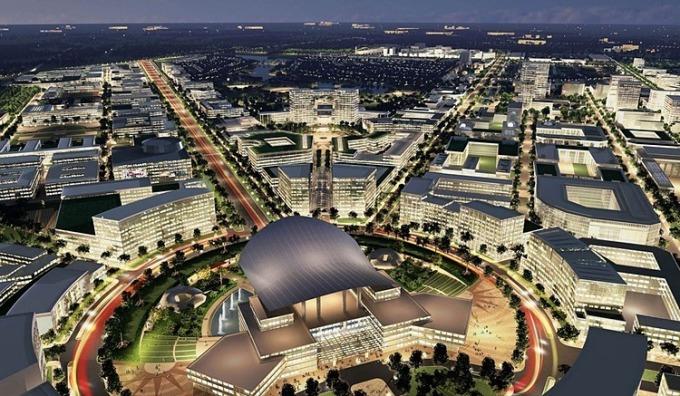Phối cảnh Khu đô thị sáng tạo - Thành phố Thủ Đức theo phương án quy hoạch của Công ty Sasaki - enCity - đơn vị được UBND TP HCM chấm giải Nhất. Ảnh: Sasaki