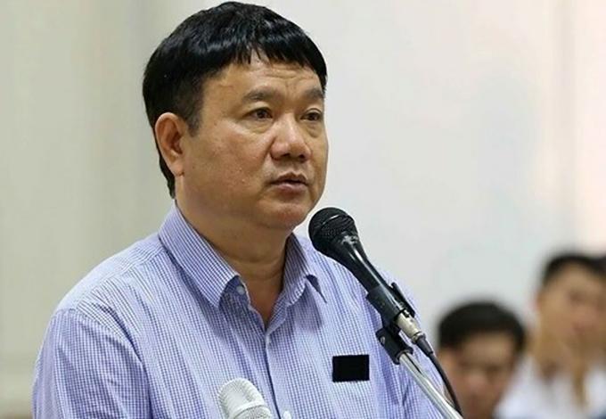 Ông Đinh La Thăng trong lần ra tòa tại Hà Nội năm 2018. Ảnh:TTXVN.