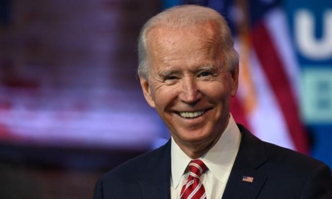 Tổng thống đắc cử Joe Biden tại Wilmington, Delaware, hôm 16/11. Ảnh: AFP.