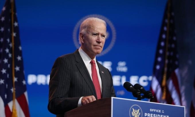 Tổng thống đắc cử Joe Biden phát biểu ở Wilmington, Delaware, hôm 19/11. Ảnh: AFP.