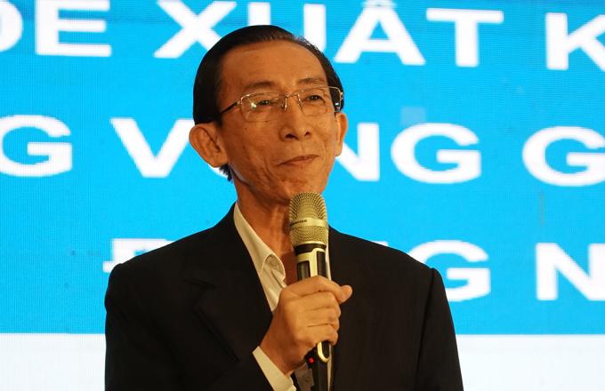 Ông Trần Hoàng Ngân tại hội thảo. Ảnh: Trường Hà.