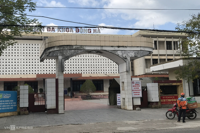 Trung tâm Y tế TP Đông Hà, nơi vợ chồng bệnh nhân 904 đang cách ly phòng chống dịch Covid-19.  Ảnh: Hoàng Apple