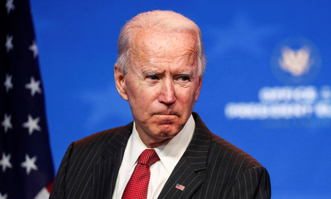 Joe Biden trong cuộc họp tại bang Delaware hôm 19/11. Ảnh: Reuters.