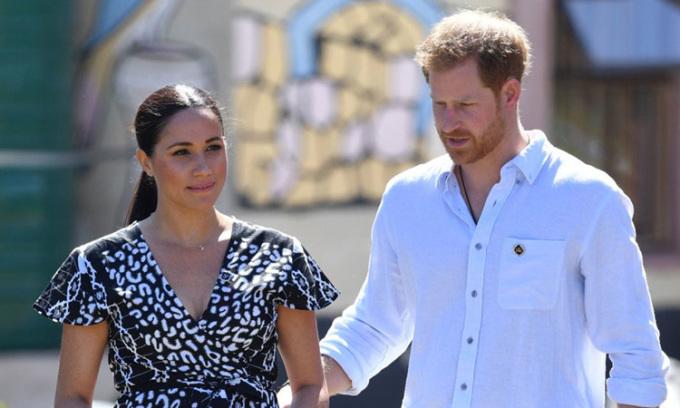 Vợ chồng Hoàng tử Anh Harry và Công nương Meghan Markle. Ảnh: PA.
