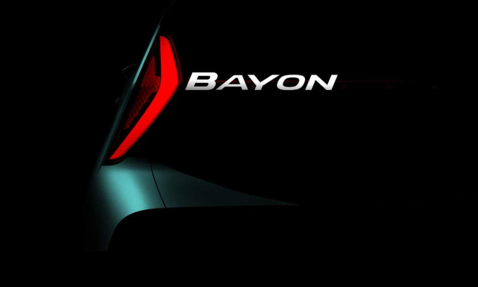 Ảnh đầu tiên về mẫu xe mới cho thấy tên gọi cùng kiểu đèn hậu hình boomerang. Ảnh: Hyundai
