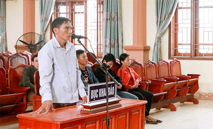 Bị cáo Chinh tại tòa. Ảnh: H.T