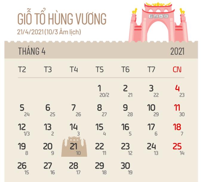 Các ngày nghỉ lễ năm 2021 - 4