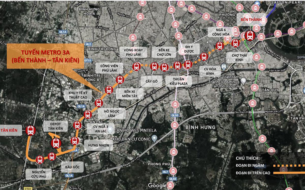 Đề xuất thêm nhà ga vào Metro Số 3A