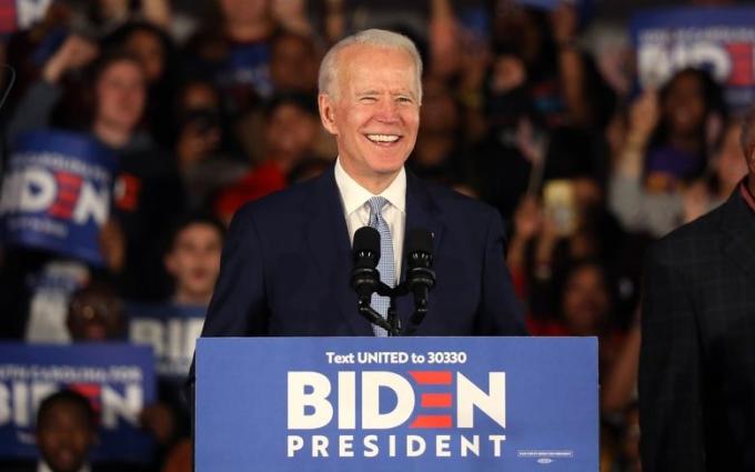 Joe Biden trong chiến dịch vận động tranh cử ở Columbia, Nam Carolina, hồi tháng 2. Ảnh: Reuters