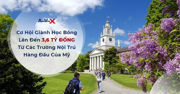 AMVNX giới thiệu học bổng Mỹ tại 39 trường đại học, trị giá 3.6 tỷ đồng. Ảnh: AMVNX.